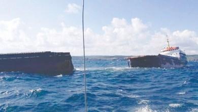 Photo of سفينة تنشطر إلى جزءين قبالة شمال غرب تركيا