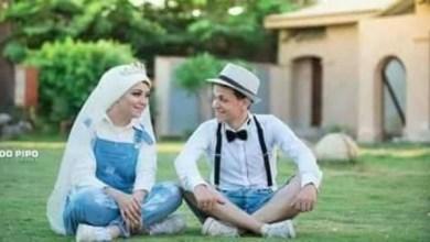 Photo of مواقع التواصل تنشغل بملابس عروسين مصريين بحفل زفافهما