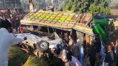 Photo of 20 قتيلاً بباكستان بعد اصشطدام شاحنة بحافلة ركاب