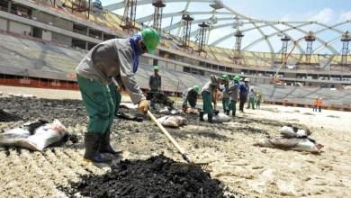 Photo of بالصور.. توقف أعمال البناء في ملاعب كأس العالم 2022