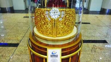 Photo of الشارقة تحتضن أكبر خاتم ذهبي في العالم