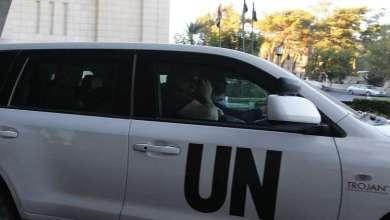 Photo of خبراء حظر الأسلحة الكيميائية يصلون دوما برفقة وزير الصحة السوري