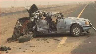 Photo of بالصور.. مصرع 4 أشخاص بحادث سير مروع في السعودية