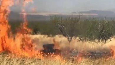 Photo of ضابط أمريكي يحرق آلاف الأفدنة احتفالًا بمولوده الجديد