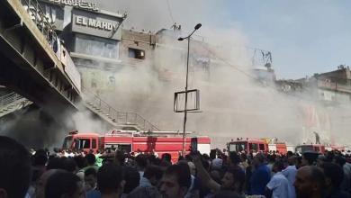 Photo of مصر.. حريق هائل في منطقة الموسكي بقلب القاهرة