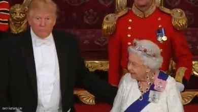 Photo of أمام ملكة بريطانيا.. ترامب يخرق البروتوكول بـهذه الحركة