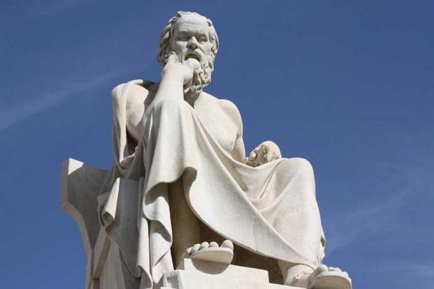 تمثال للفيلسوف اليوناني سقراط تمثال للفيلسوف اليوناني سقراط