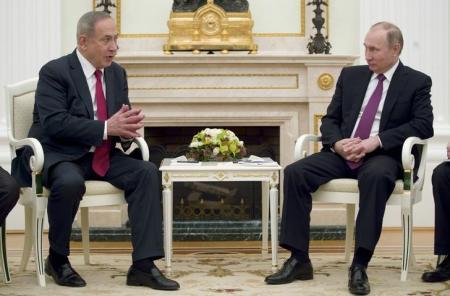 """نتنياهو  يطلب من بوتين منع إيران من استخدام """"المناطق الآمنة"""" ضد إسرائيل"""