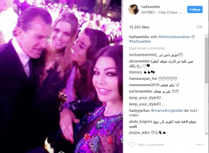 بالصورة- هيفاء وهبي مع نجم عالمي.. ونظراته لها اجتاحت الانترنت!