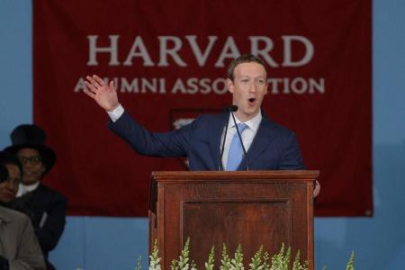 مؤسس فيسبوك يدعو خريجي هارفارد للمخاطرة الإبداعية