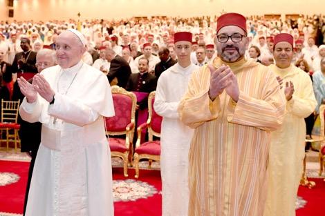 الملك والبابا يزوران معهد محمد السادس لتكوين الأئمة والمرشدين