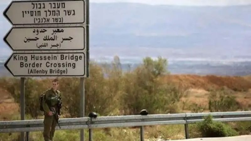 مهاجمة جندي إسرائيلي في جسر الملك حسين