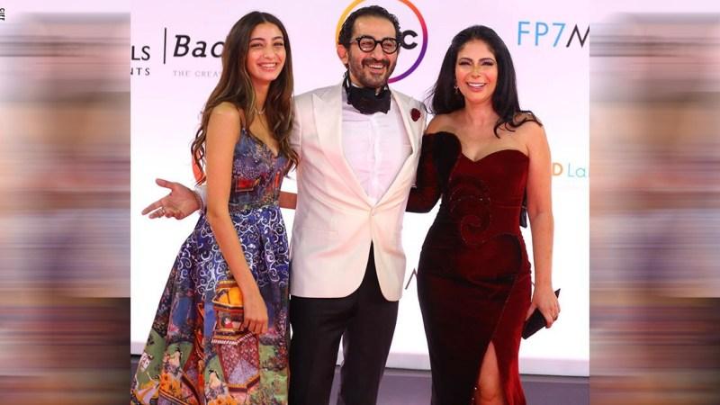 الظهور الأول لابنة منى زكي وأحمد حلمي بمهرجان القاهرة السينمائي
