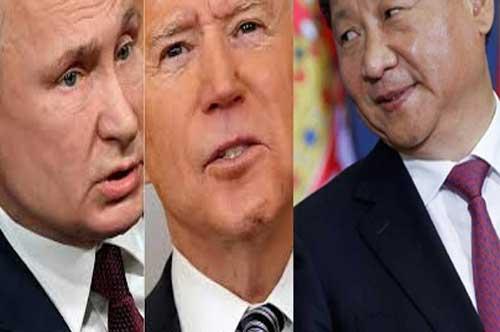 بايدن ومعضلة روسيا والصين تعويض الضعف بخطاب القوة