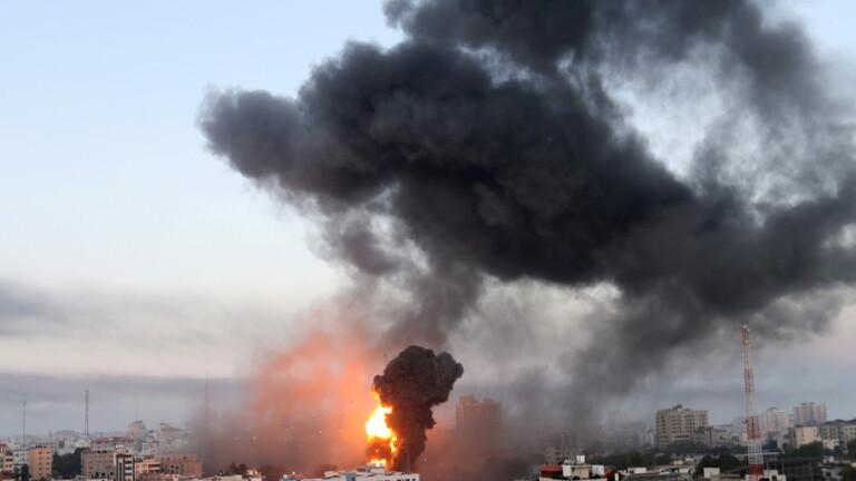 داخلية غزة: الطيران الإسرائيلي دمر مبنى جهاز الأمن الداخلي شمال القطاع