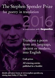 Sunday Submissions: 2016 Stephen Spender Prize, Deadline May 27