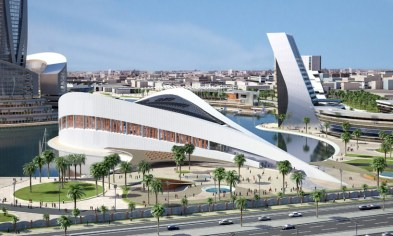 """The design of a future """"megalibary"""" for Baghdad."""