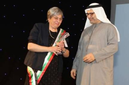 Receiving the Owais Prize,  2011.