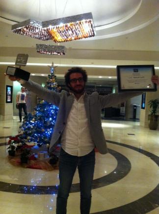 Mazen Maarouf, post-award. Via Facebook.