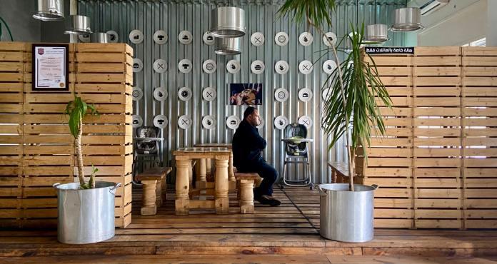 Café in Tripoli, Libya