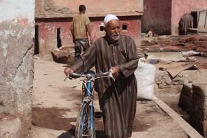 Uomo, quartiere Debbaghine, Marrakech