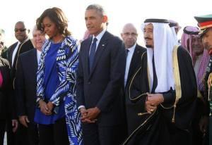 Il presidente Barack Obama accolto dal re Salman Abdel-Aziz