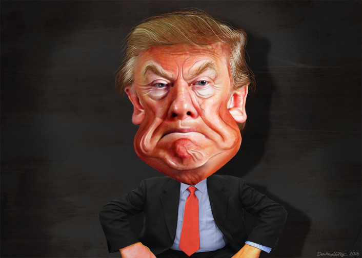 """Donald Trump"", caricatura di Donkey Hotey"