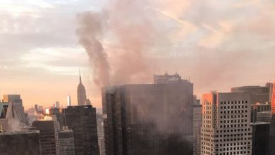 Photo of حريق في برج ترامب بنيويورك