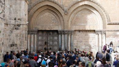 Photo of لأول مرة كنيسة القيامة تغلق أبوابها احتجاجا على الإجراءات الإسرائيلية