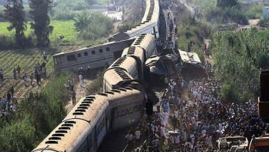 Photo of وفاة 12 وإصابة 39 في تصادم قطارين في شمال مصر