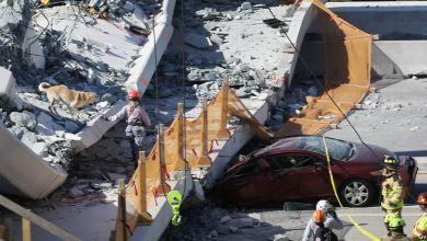 Photo of انهيار جسر للمشاة في فلوريدا يتسبب في قتل 4 اشخاص واصاية آخرين