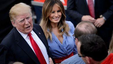 Photo of ترامب يكشف نتيجة فحص كورونا لزوجته ميلانيا