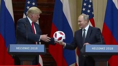 Photo of بعد نجاح روسيا في تنظيم كأس العالم .. بوتين يهدي ترامب كرة قدم