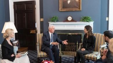 Photo of مايك بنس و إيفانكا ترامب يستقبلان العراقية ناديا مراد لتهنئتها بفوزها بنوبل للسلام