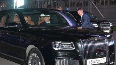 """Photo of الرئيس بوتين يقود سيارته الجديدة """"آوروس"""" بصحبة الرئيس المصري"""