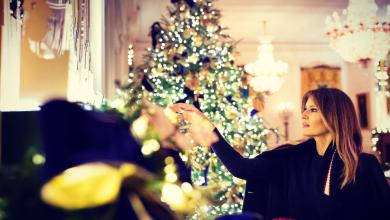 Photo of البيت الأبيض يتزين استعدادا للكريسماس بلمسات ميلانيا ترامب