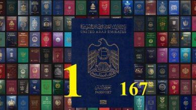 Photo of طبقًا لأحدث تصنيف : جواز السفر الإماراتي يصعد إلى المركز الأول عالميا