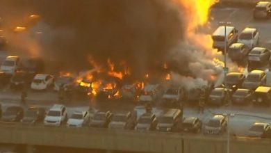 Photo of اندلاع حريق في موقف سيارات بمطار نيوارك بولاية نيوجيرسي الأميركية .. ولا خسائر بشرية