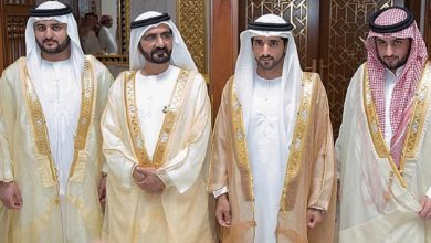 Photo of حاكم دبي يحتفل بعقد قران 3 من أبنائه بينهم ولي العهد