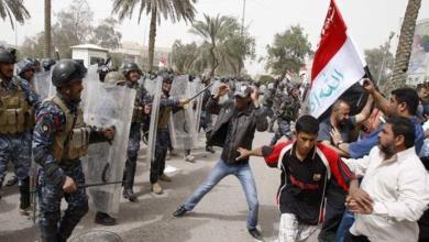 Photo of اشتباكات بين قوات الأمن والمتظاهرين في ذي قار بالعراق