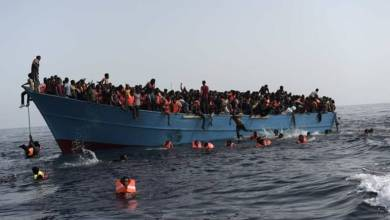 "Photo of إنقاذ 25 مهاجرًا قبالة سواحل ""كاليه"" شمال فرنسا"