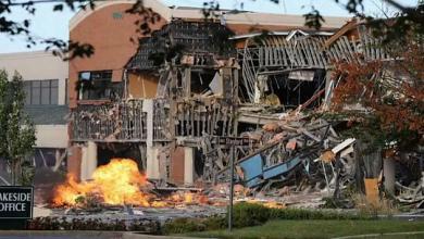 Photo of انفجار غاز يلحق أضرارا جسيمة بمركز تجاري بولاية ماريلاند الأمريكية