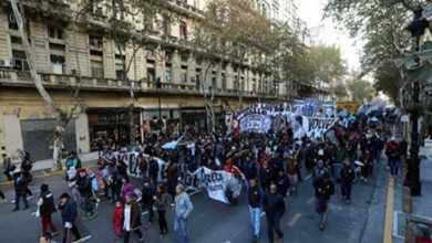 Photo of مظاهرات بالأرجنتين احتجاجًا على سوء الأوضاع المعيشية
