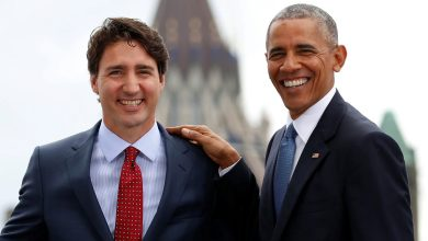 Photo of أوباما يدعو الكنديين إلى التصويت لجاستن ترودو