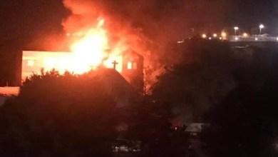 Photo of حريق كبير بكنيسة شرق حلوان في مصر
