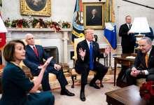 Photo of الرئيس الأمريكي ترامب يهاجم بيلوسي ويصفها بالمجنونة