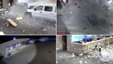 Photo of لحظة اقتحام شاحنة لصالة مطار «ساراسوتا برادنتون» بولاية فلوريدا (فيديو)
