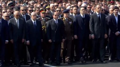 Photo of جنازة عسكرية للرئيس المصري الراحل حسني مبارك