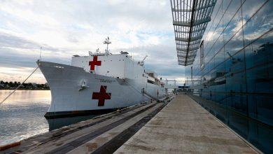 Photo of البحرية الأمريكية ترسل سفينتين إلى نيويورك لاستقبال المرضى