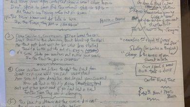 Photo of 2.2 مليون دولار ثمن أغنية مكتوبة بخط بوب ديلان